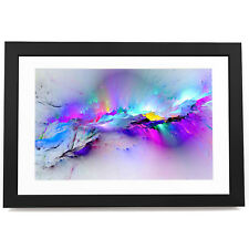 BF3AB968 blue Colourful pink 3 Modern Abstract Framed Wall Art  Picture Prints