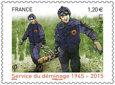 france 2015 military militaria Clearance service soldier uniform deminage 1v mnh