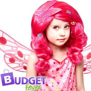 Pink Mia & Me Girls Wig Fancy Dress Cartoon Fairy Childs Kids Costume Accessory
