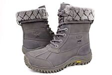 Ugg Adirondack II Luxe Quilt Winter Snow Grey Color Boot Size 6 US RARE!