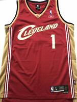 Cleveland Cavaliers Sz L Team Issued #1 Boozer Swingman Jersey Away Sewn 2004