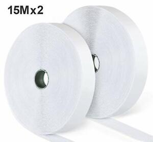Ilauke 15M Nastro Adesivo Velcro per Zanzariera