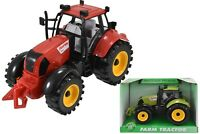 Friction Powered Farm Tractor With Opening Bonnet Children Kids Toy Gift New