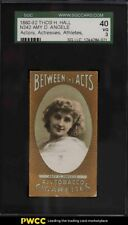1880 N342 Thos H Hall Actors, Actresses, Athletes Amy D Angele SGC 3 VG