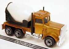 Matchbox Peterbilt Cement Truck GOLD CHALLENGE w/Black Mixer Drum #19 1/80 Scale