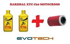 2 LT OLIO BARDHAL XTC C60 MOTO CROSS 10W40 + FILTRO OLIO KAWASAKI KLX 250 S