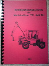 TIH445 Bedienanleitung 121 Seiten TIH 445 no Fortschritt T174 T 174 IFA W50 RS09