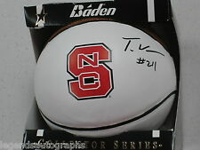 TJ WARREN Signed NC STATE Mini Basketball Autograph 2014 ACC POY Auto BLOWOUT