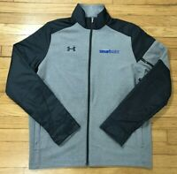 Under Armour Gray Cold Gear Loose Zip Sweatshirt Jacket Mens Size Large