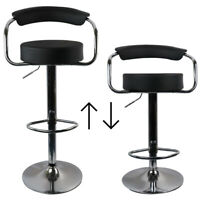 Set of 2 Bar Stool Adjustable Kitchen Chair Counter Swivel Pub Style Barstools