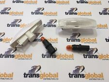 Land Rover Freelander 2 07> Clear Side Repeater Indicators with Bulbs & Holders