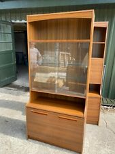 Vintage Avalon Brown Wood Effect Formica Wall Unit Display Cabinet