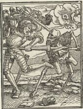 Hans Holbein's Dance of Death 1525 The Knight 7x5 Inch Print