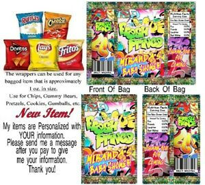 12 Fresh Prince Baby Shower Birthday Party Chip Bags Gift Favor Graffiti Bel Air