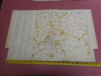 100% ORIGINAL LARGE LONDON PETTY SESSIONS  MAP BY BACON C1926