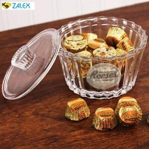 Reeses Crystal Candy Dish with Lid and Frosted Logo Heirloom-Quality Bowl by God