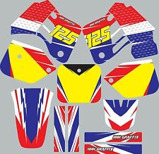 Graphic Kit for 1987-1988 Honda CR125 CR 125 shrouds fender plastic decals