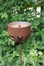 Kerzenhalter 122 cm Rost Deko Outdoor-Kerzen Gartendeko Stab Edelrost