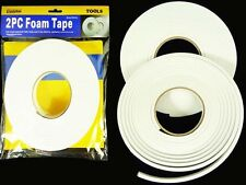 """2 Pc Single Sided Foam Tape White Roll Adhesive 2/5"""" x 16 FT Permanent Mounting"""