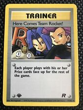Here Comes Team Rocket 71/82 1st Edition Trainer Rare Mint Condition