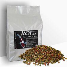 KOIFUTTER 5 kg *Sommer Mix No.1* KOI 10 Sorten Mischung Pelletgröße 6mm