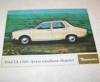 Prospekt / Broschüre Dacia 1300 - Auto Dacia Rumänien