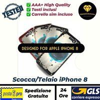 🔝 Scocca Telaio Vetro Posteriore Copertura Batteria Back Cover Apple iPhone 8