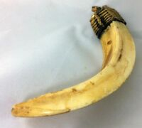Real PIG Tooth Amulet Thai Life Protection Talisman Invulnerable Teeth Boar Fang