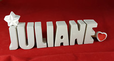 Beton, Steinguss Buchstaben 3D Deko Namen JULIANE als Geschenk verpackt!