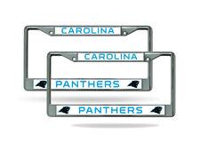 Carolina Panthers NFL Chrome Metal (2) License Plate Frame Set