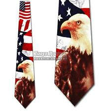 Flag Tie Eagle Necktie Mens Patriotic American Brand New