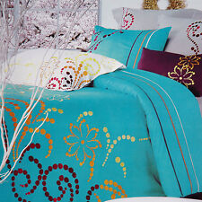 Quilt Cover Set Cotton Embroidered Craft Quilt Cover Sheet 2 Pillow Cases King