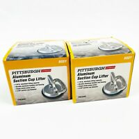 2 PITTSBURGH AUTOMOTIVE Aluminum Suction Cup Lifter 110 lb. Maximum Dent Remover