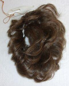 Women's Pull Thru-Hair Enhancer Open Weave Hairpiece- Lt Ash Brown