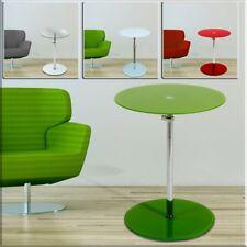 Design Wohn Zimmer Couch Tische Höhe verstellbar Glas Platte Rot Grün Big Light