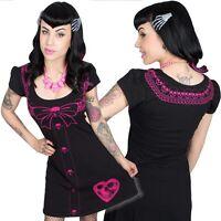 Kreepsville 666 Pink Serial Killer flare dress, alternative, Gothic clothing