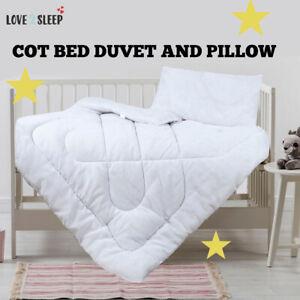 Baby Cot Bed Duvet Quilt Pillow Bedding Anti Allergy - Junior Toddler Cot Quilt