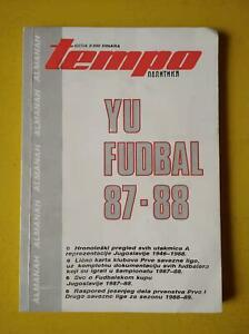 1987-88 Yugoslavia National League Football Soccer Yearbook Almanac 112 Pages EX