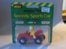 1996 Brio Speedy Sports Car #33629 Wooden Railway Train Systems #2 (NIP)