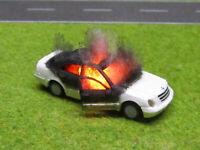 1:87 H0 Mercedes Benz Limousine Vollbrand LED 12V Feuer Laser Cut UNIKAT #72