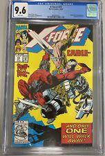 X-FORCE #15 CGC 9.6 APPEARANCE DEADPOOL  & CRULE SUNSPOT JOIN GREG CAPULLO ART