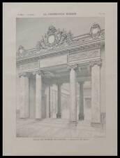PARIS, LOUVRE, SALLE RUBENS - 1900 - PLANCHE ARCHITECTURE - GASTON REDON