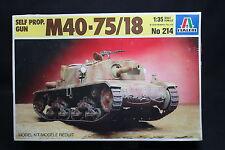 XU015 ITALERI 1/35 maquette tank char 214 Self Propelled Gun M40-75/18
