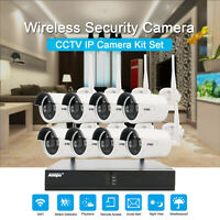 4/8CH CCTV Camera System Outdoor Home Surveillance Security Wifi Kit NVR 1TB HDD