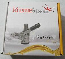 New Krome Dispense C738 Keg Coupler Type D Black Handle Brass Body Us Sankey