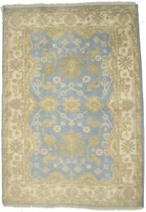 Hand-Knotted Muted Colors Foyer Size 4X6 Oushak Chobi Oriental Rug Decor Carpet