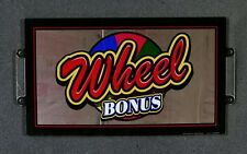 WMS Williams BB3 Blade Slot Machine Plexiglas Topper Insert WHEEL BONUS