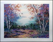 """Steve Bloom """"Silver Lake"""" landscape Hand Signed Numbered Art Make an Offer"""