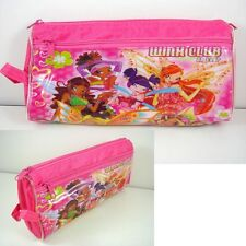 LATEST Winx Club Girl Pink Stationery Cosmetic Storage Pencil Case Bag