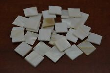 50 PCS SQUARE WHITE MOTHER OF PEARL SHELL INLAY BLANK #T-984B